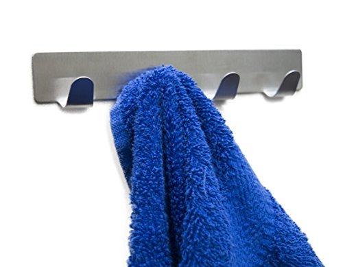 yousefully Handtuchhaken Haken Selbstklebend Bad und Küche Handtuchhalter Kleiderhaken Ohne Bohren 4 Stück Leiste