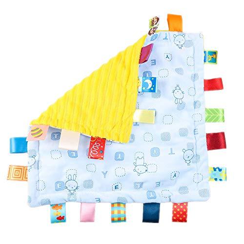G-Tree Bébé Garçons Filles Soft Touch Tag Consolateur Blanket, bébé Chiffons Couverture Teething Teething