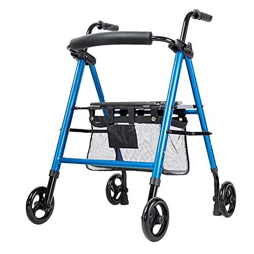 FHISD Caminante Mayor de la Carretilla, Rueda de la aleación de Aluminio con el Carro de la Compra Plegable del Asiento