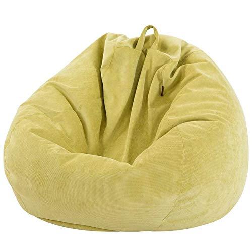 Lazy Sofa-Abdeckung mit Gefüttert Stuhl-Abdeckung Warm Corduroy Lounge Chair Sitzsitzsack Kissen Hocker Tatami Wohnzimmer 70x80cm (Color : Yellow)