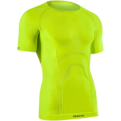 Tervel Comfortline Hommes Chemise Manches Courtes Jaune Fluo Taille M