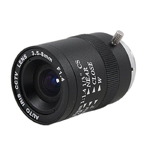 uxcell 単焦点中望遠レンズ 手動虹彩レンズ 絞りF1.4 CCTVカメラ交換レンズ