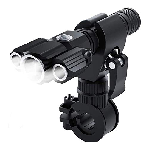 Collapsible Luz De Bicicleta Recargable USB, Luz Frontal Impermeable IPX6, 2200 Mah, con Luz Trasera para Montar De Noche, También Adecuada para Acampar De Aventuras