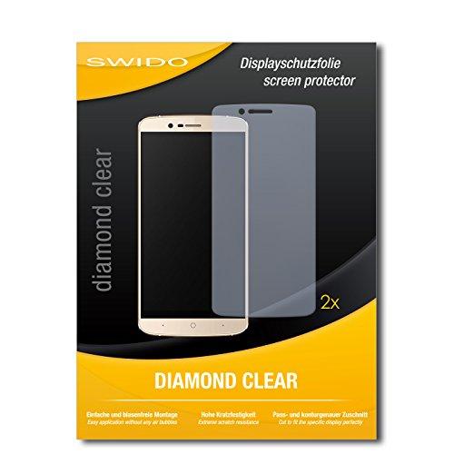 2 x SWIDO® Bildschirmschutzfolie Elephone P8000 4G Schutzfolie Folie
