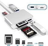 CATECK 【Versión actualizada】 Lector de Tarjetas XQD, Lector de Tarjetas USB 3.0 SD TF con USB3.0x2 Velocidad rápida hasta 5 GBP/s, Compatible con XQD de la Serie Sony G&M para Windows/Mac OS