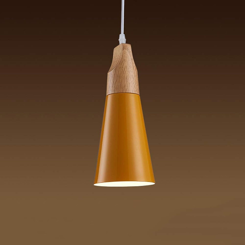 SPA  Nordic Kreative Einzigen Kopf Restaurant Licht Hohe Helligkeit E27 Led Deckenpendelleuchte Zeitgenssische Minimalistische Metall Holz Hngelampe für Nacht Schlafzimmer Gang Wohnzimmer Dekorativ