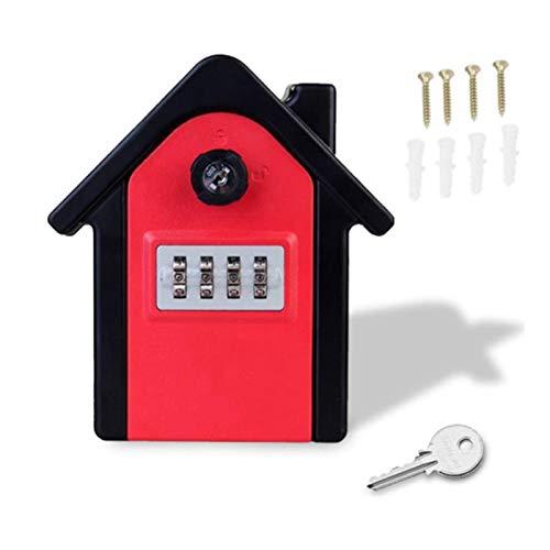 Caja de bloqueo de llave, caja de bloqueo de almacenamiento segura de combinación de combinación montada en la pared resistente a la intemperie, para el hogar, garaje, escuela, gimnasio (F)