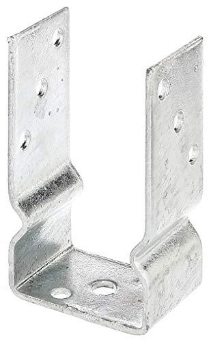 GAH-Alberts - Supporto metallico ad U da avvitare al palo di sostegno per recinzione, zincato a caldo 81 mm