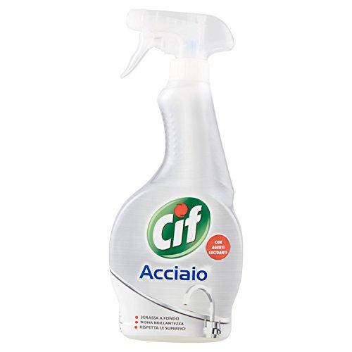 Cif - Detersivo per Acciaio con Agenti Lucidanti - 500 ml