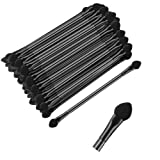 KEJIA 30 PCS Professional Double-End Eyeshadow Brushes Cosmetic Tool with 12 cm Long Handle, Disposable Dual Sides...