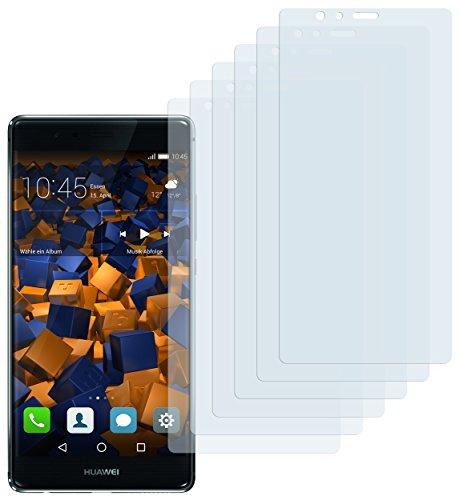 Schutzfolie kompatibel mit Huawei P9 Plus Folie klar, Displayschutzfolie (6X)