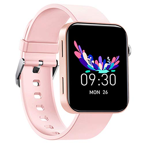 "Smart Watch IP67 Sports Waterproof-HAOQIN QS1 HaoWatch Full Touch Smart Watch 1.54"" Screen Fitness Tracker with Heart Rate Sleep Monitor for Men and Women Smart Watches Bluetooth 4.0 Android iOS Pink"