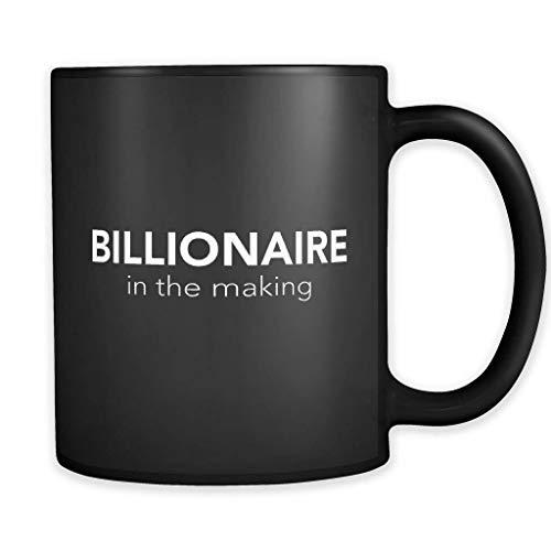 DKISEE Taza negra billonaria, regalo multimillonario, taza de empresario, regalo de empresario, regalo de empresario, regalo de dueño de negocios, taza #a197