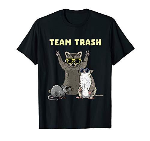 Team Trash Opossum Raccoon Rat, Funny Animals Garbage Gang T-Shirt