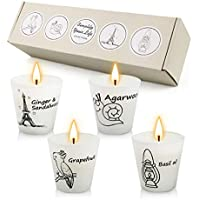 4-Pack Creashine Scented Candles Gifts Sets