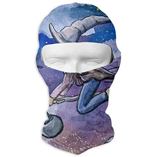 Sitear kind heks vliegen op bezem 's nachts volledige gezicht masker kap nek warm voor mannen en vrouwen outdoor sport winddicht zonnebrandcrème gepersonaliseerd