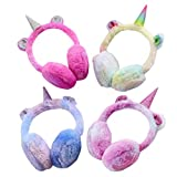 VALICLUD クールかわいい愛らしいユニコーンは、子供たちのために暖かい耳カバーを暖かくしてください