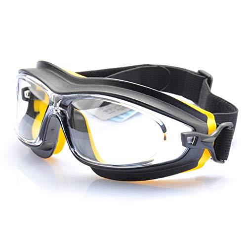 Shang Jiangan Gafas Protectoras, Polvo/Arena/Resistente A La Intemperie/Antichoque/Químico Ácido/Álcali/Pintura/Salpicadura/Pulido/Trabajo Gafas Protectoras (Color : Orange)