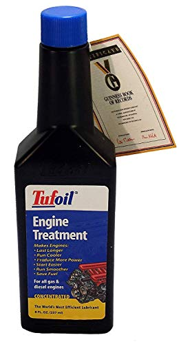 Tufoil Engine Treatment 8 Oz   for All Diesel and Gas Engines   Run Smoother   Start Easier   The World