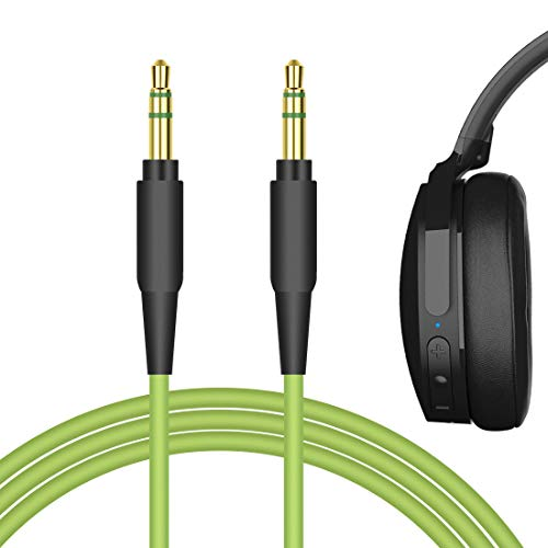 Geekria QuickFit Audio Cable Compatible with Skullcandy Hesh, Hesh 2, Hesh 3, Grind, Aviator, Mix Master, Crusher ANC, Crusher EVO Headphones, 3.5mm AUX Replacement Stereo Cord (Green 5.6FT)