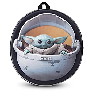 411L3YFk5GL. SS300  - Disney® Official Star Wars The Child Backpack Baby Yoda Mandalorian | Licenced School Travel Bags Baby Yoda in Carriage…