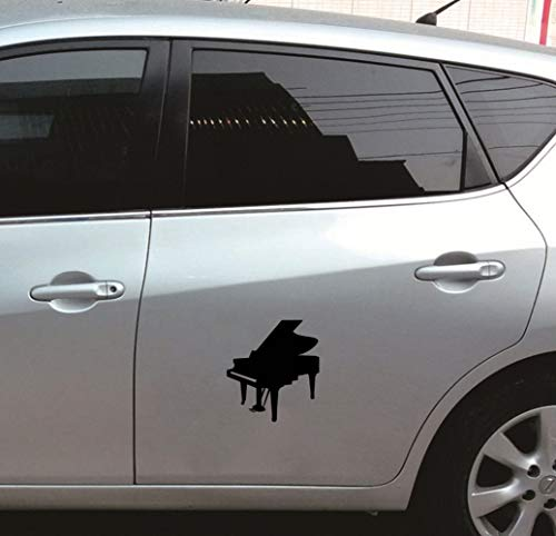 Auto Stickers 13.8Cmx15.3Cm Muziek Piano Happy Window Decal Mooie Auto Sticker voor Auto Laptop Window Sticker