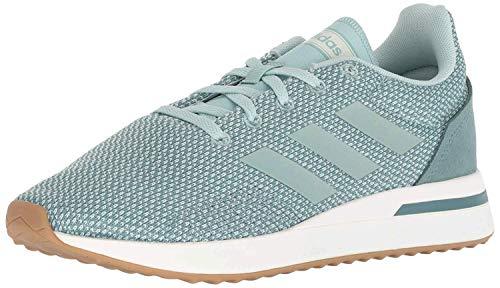 adidas Women's Run70S Running Shoe, ash Green/ash Green/raw Green, 9.5 M US