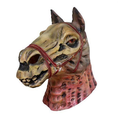 Pferdemaske Halloween Maske Latex Tiermaske Pferdekopf Pferd Kostüm Erwachsene Pferd Maske für Halloween Party