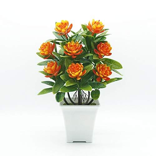 Blumen YNFNGXU Gefälschte Verzierungen Wasser-Lilien 5 Farben verwendet for Hauptdekoration Simulation Plastikblumen Grünpflanzen Kleine Topfpflanzen (Color : B)