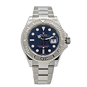 Rolex 16622 Oyster Perpetual Yacht-Master Steel with Platinum Mens Watch Silver Dial Oyster Perpetual Calendar Sapphire Crystal Serial Number Certified image