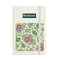中国の日本語スタイルのアジアの花の葉のパターン ノートブッククラシックジャーナル日記A 5