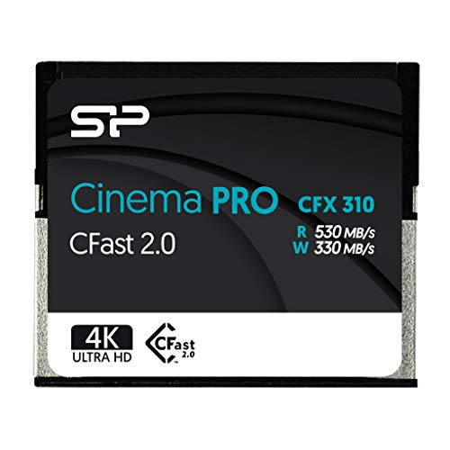 SP 256GB CFast2.0 CinemaPro CFX310 Memory Card, 3500X and up to 530MB/s Read, MLC, for Blackmagic URSA Mini, Canon XC10/1D X Mark II and More