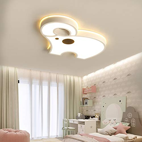 Henley Modern Deckenleuchte Kinderzimmer Lampe 24W LED Design Decken Beleuchtung Jungen und Mädchen Deckenleuchte Weißer Elefant Deckenlampe für Schlafzimmer, Warmes Licht 3000K