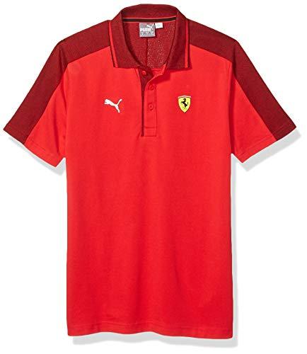 PUMA - Polo Scuderia Ferrari Mix da Uomo, Uomo, T-Shirt, 59542201, Red Corsa, S