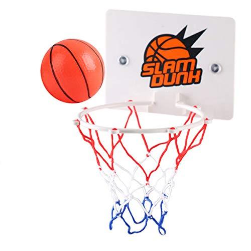 SOONHUA Juguete de baloncesto portátil con balones de baloncesto para interiores y móviles, montado en la pared, juego deportivo de baloncesto para practicar tiro.