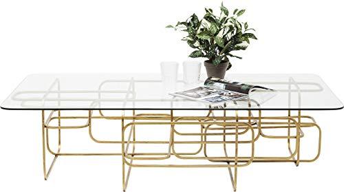 Kare Design Table Basse Meander 140x80cm dorée