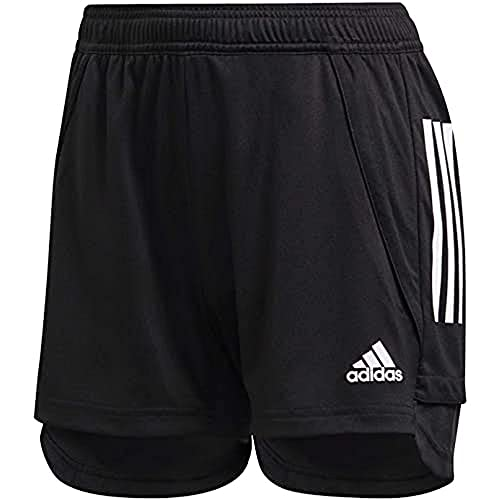 adidas Damen CON20 TR SHO W Sport Shorts, Black/White, XL/L