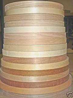 "Wood veneer edgebanding Ash Birch Cherry Maple Red Oak in 7/8"" x 120"" no glue"