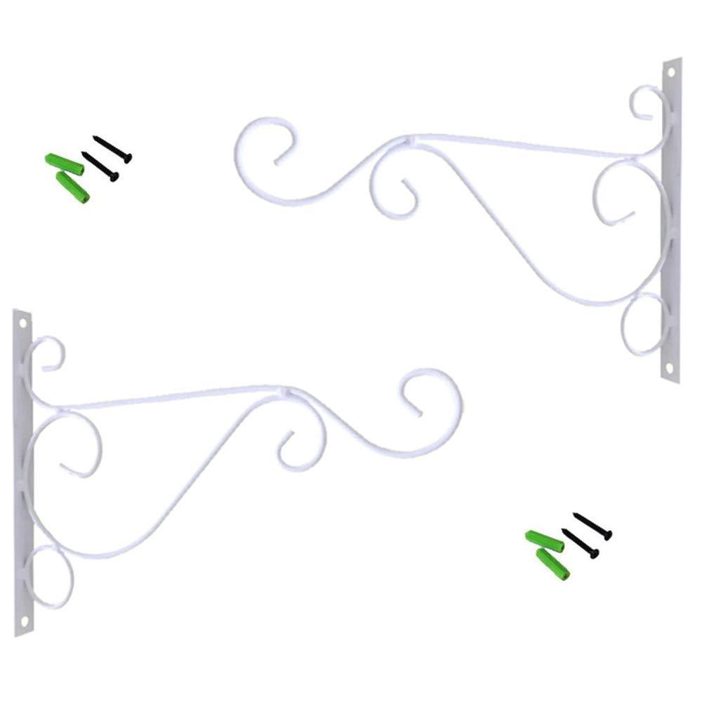 Iron Wall Mount Lanterns Hangers for Hanging Bird Feeders Lanterns Metal Plant Hanger Brackets Outdoor Decoration Hooks 14/ï/¼/' Wnvivi 2Pcs Hanging Plant Brackets Planters Wind Chimes