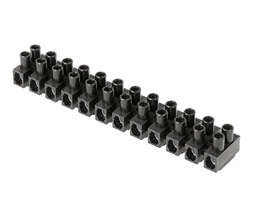 Regleta Empalmes de 12 Secciones para Cables hasta 10mm, Conexión Eléctrica hasta...