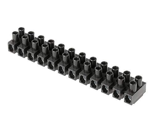Regleta Empalmes de 12 Secciones para Cables hasta 4mm, Conexión Eléctrica hasta...