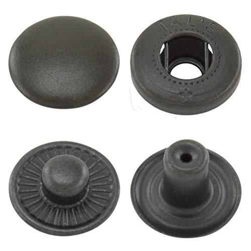 5 mm Negro GETMORE Parts Agujereadora Remaches Pieza 100 Solo Cabezal Lat/ón Inoxidable