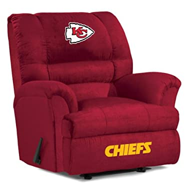 Imperial Officially Licensed NFL Furniture: Big Daddy Microfiber Rocker Recliner, Kansas City Chiefs