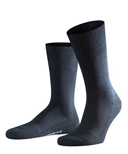 FALKE Herren Socken Airport Plus - Merinowoll-/Baumwollmischung, 1 Paar, Blau (Dark Navy 6370), Größe: 45-46