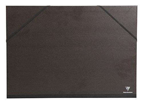Clairefontaine 44900C - Carpeta de dibujo con gomas (A2), negro
