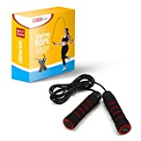 RUBEX Jump Rope with Non-Slip Memory Foam Handles - for Gym Workout, Crossfit, Boxing, Speed and...