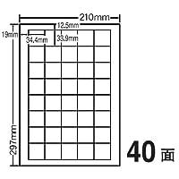 ナナクリエイト FCL-15(耐水・耐温度タイプ・カラーレーザー用) シートカットラベル A4判 40面付 100シート入(4000片) 【ナナラベル】