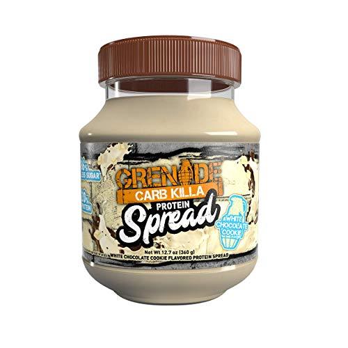 Grenade Carb Killa Protein Chocolate Spread   7g High Protein Snack   High Protein Low Sugar   No Stir   White Chocolate Cookie, 12.7oz