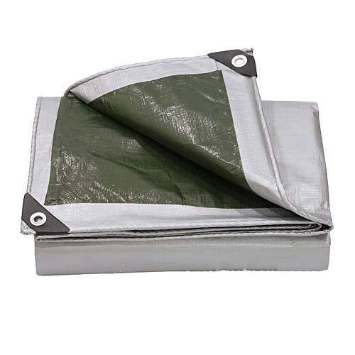 Bâches Couvertures de bâche de Sol imperméables pour bâche de Camping, de pêche, de Jardinage et de bâche Robuste en Argent - Couverture de qualité supérieure Fabriquées en polyéthylène de 160 g/m