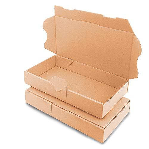 verpacking 100 Maxibriefkartons Versandkartons Faltschachtel Faltkarton Maxibrief 225 x 145 x 35 mm, Braun, MB-XS